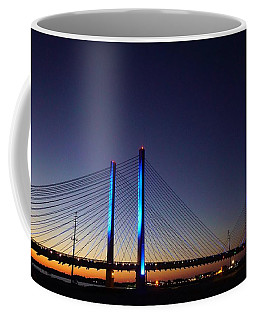 Coffee Mug featuring the photograph Indian River Inlet Bridge by Ed Sweeney