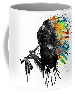 Indian Silhouette With Colorful Headdress Coffee Mug