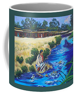 Indian Woman At The Watering Hole Coffee Mug