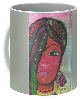 Indian Woman Rajasthani Colorful Coffee Mug