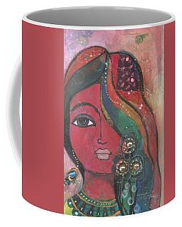 Indian Woman With Flowers  Coffee Mug