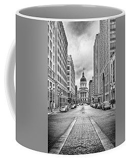 Coffee Mug featuring the photograph Indiana State Capitol Building by Howard Salmon
