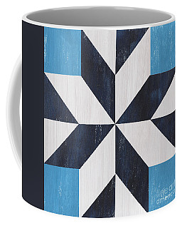 Coffee Mug featuring the painting Indigo And Blue Quilt by Debbie DeWitt