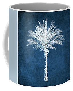 Indigo And White Palm Tree- Art By Linda Woods Coffee Mug