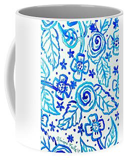 Indigo Blooms Coffee Mug