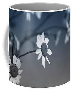 Indigo Daisies 1- Art By Linda Woods Coffee Mug