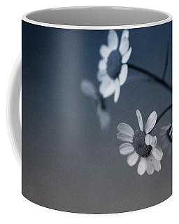 Indigo Daisies 2- Art By Linda Woods Coffee Mug