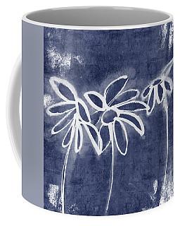 Indigo Floral 1- Art By Linda Woods Coffee Mug