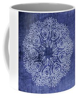 Indigo Mandala 1- Art By Linda Woods Coffee Mug