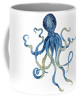 Indigo Ocean Blue Octopus  Coffee Mug