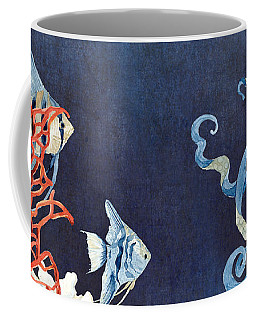 Indigo Ocean - Floating Octopus Coffee Mug