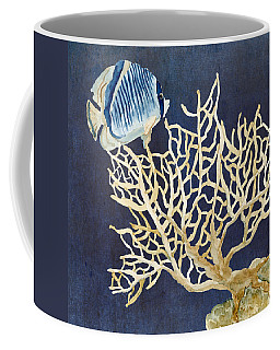 Indigo Ocean - Tan Fan Coral N Angelfish Coffee Mug