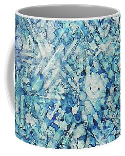 Coffee Mug featuring the painting Indigo Trails Ink #14 by Sarajane Helm