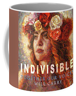 Coffee Mug featuring the glass art Indivisible by Mia Tavonatti