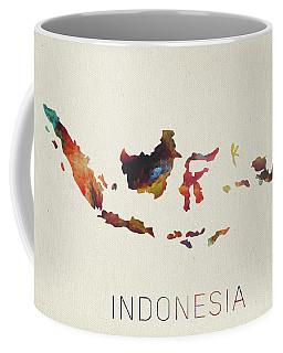 Indonesia Watercolor Map Coffee Mug