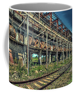 Coffee Mug featuring the photograph Industrial Archeology Railway Silos - Archeologia Industriale Silos Ferrovia by Enrico Pelos