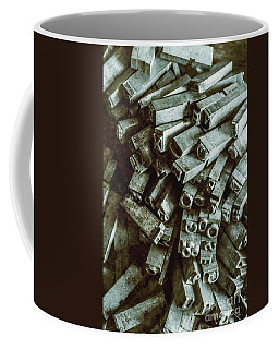 Industrial Letterpress Typeset  Coffee Mug