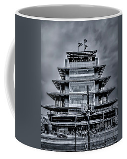 Indy 500 Pagoda - Black And White Coffee Mug