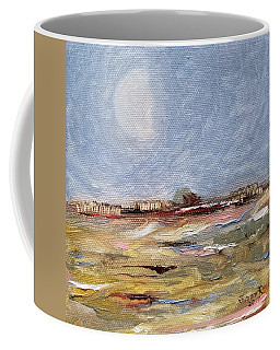 Coffee Mug featuring the painting Inevitable Epoch by Judith Rhue