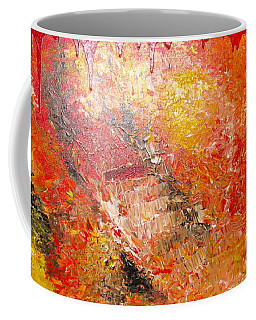 Coffee Mug featuring the painting Inferno by Jacqueline Athmann