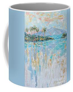 Coffee Mug featuring the painting Infiinity Pool by Linda Olsen