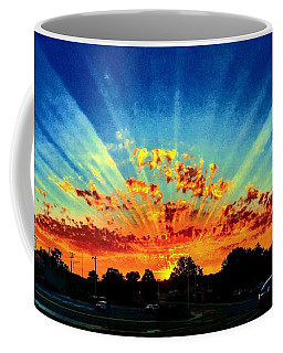 Infinite Rays From An Otherworldly Sunset Coffee Mug