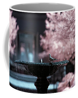 Coffee Mug featuring the photograph Infrared Morning Dove by Brian Hale