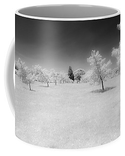 Infrared Peach Orchard Coffee Mug