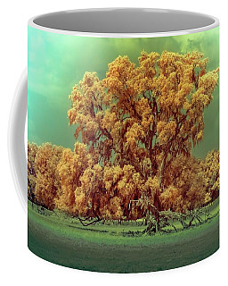 Infrared Surreal Tree Canopy Coffee Mug by Louis Ferreira