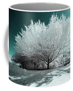 Coffee Mug featuring the photograph Infrared Tree Blue by Brian Hale