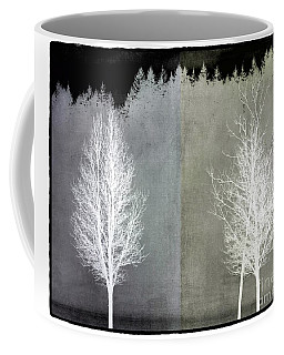 Coffee Mug featuring the mixed media Infrared Trees With Texture by Patricia Strand