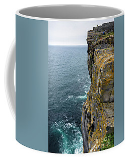 Coffee Mug featuring the photograph Inishmore Cliff And Dun Aengus  by RicardMN Photography