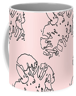 Ink Flower Pattern 1 Coffee Mug