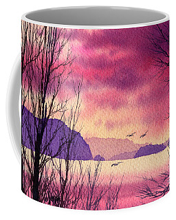 Coffee Mug featuring the painting Inland Sea Islands by James Williamson