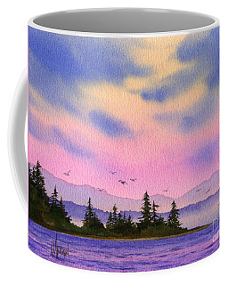 Coffee Mug featuring the painting Inland Sea Sunset by James Williamson