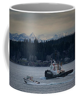 Coffee Mug featuring the photograph Inlet Crusader by Randy Hall