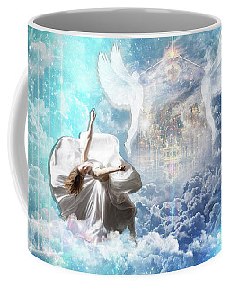 Coffee Mug featuring the digital art Inner Courts by Dolores Develde