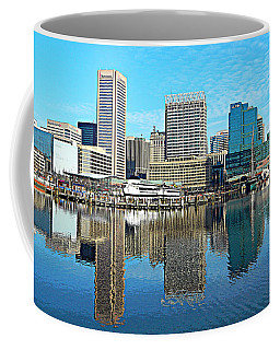 Inner Harbor Reflections Coffee Mug by Emmy Marie Vickers