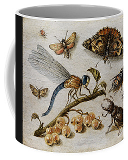 Insects, Currants And Butterfly Coffee Mug