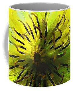 Inside A Yellow Goatsbeard  Coffee Mug
