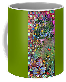 Inside The Garden Wall Coffee Mug by Donna Blackhall