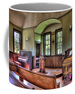 Inside The Oysterville Church  Coffee Mug