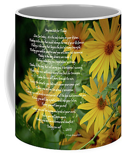 Inspiration For Today Floral Coffee Mug