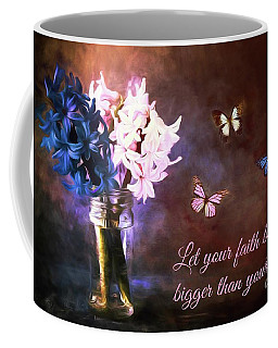 Inspirational Flower Art Coffee Mug by Tina LeCour