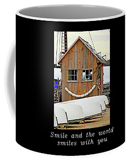 Inspirational- The World Smiles With You Coffee Mug