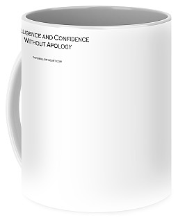 Intelligence And Confidence Coffee Mug by David Miller