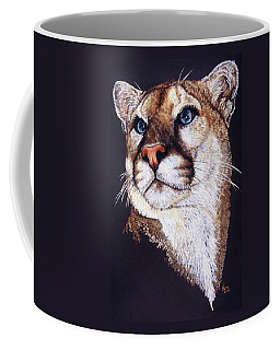 Coffee Mug featuring the drawing Intense by Barbara Keith
