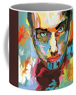Coffee Mug featuring the digital art Intense Face 2 by Darren Cannell