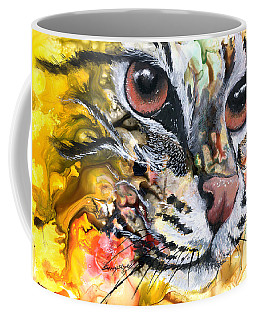 Coffee Mug featuring the painting Intensity by Sherry Shipley