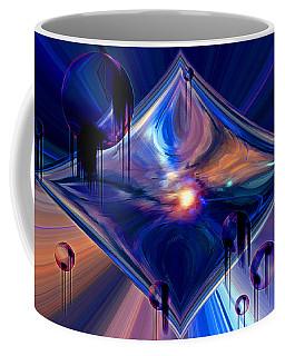 Coffee Mug featuring the digital art Interdimensional Portal by Linda Sannuti